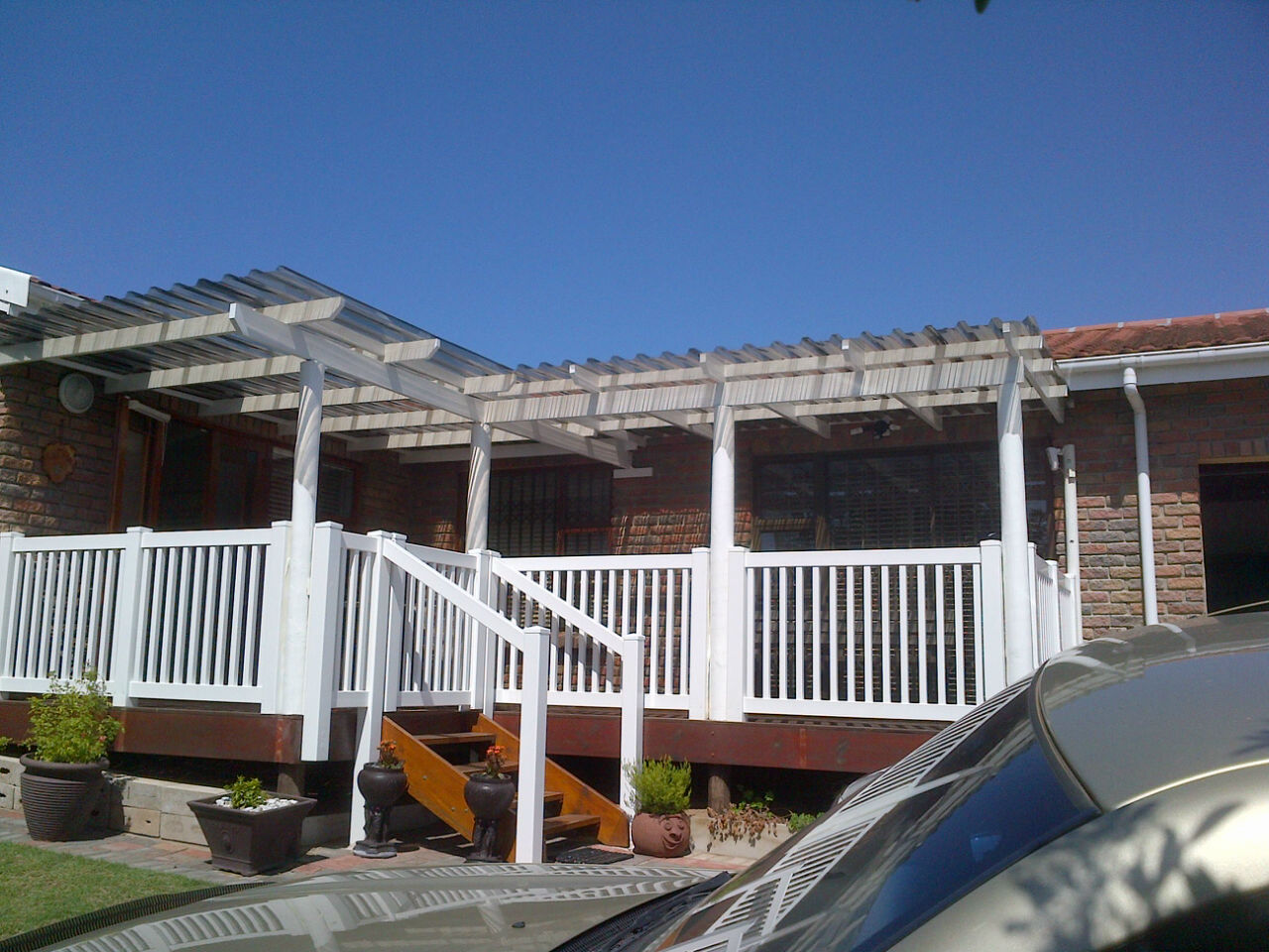 deck roof install