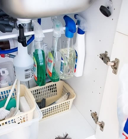 Handyman_DIY_Use a Rail in Your Sink Cabinet for Cleaning Products