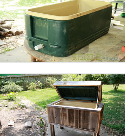 rustic wooden from old cooler
