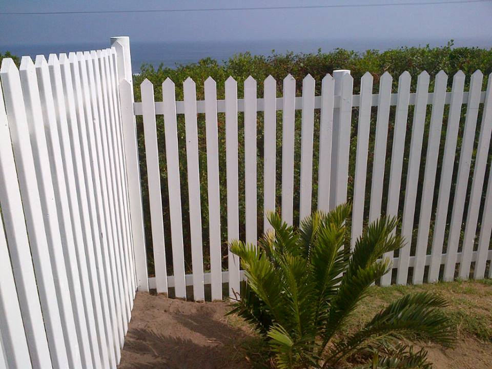 wooden fence side view