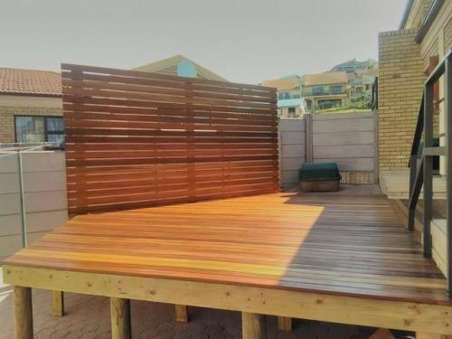 wooden decking mossel bay